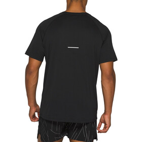 asics Night Track Maillot manches courtes zippé Homme, night track black aop